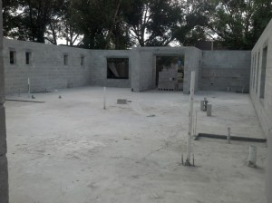 Slab poured and block complete